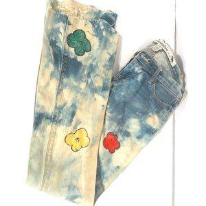 Abercrombie Jeans Size 16 Slim Andy Warhol Flowers